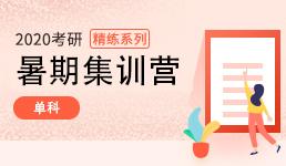 2020考研暑期集训营_单科