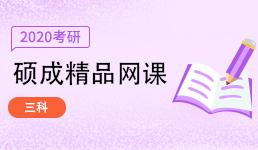 2020考研硕成网课_三科