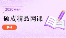 2020考研硕成网课_单科
